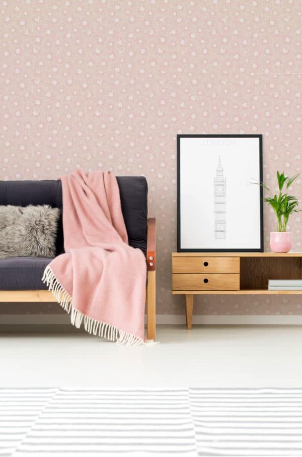 beige chrysanthemum floral peel and stick wallpaper