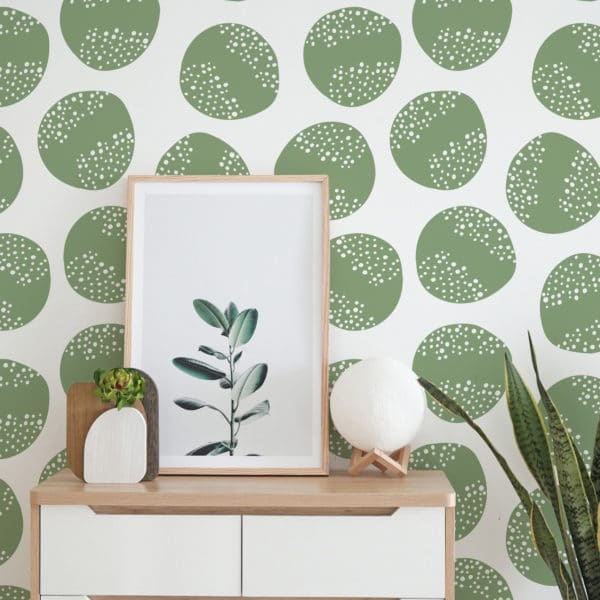 green circle self-adhesive wallpaper