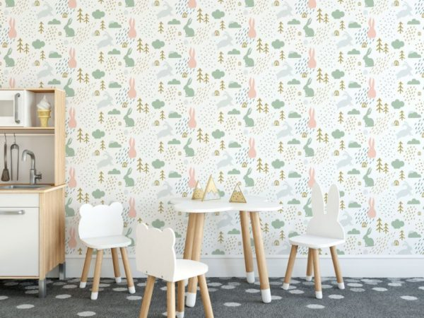 forest stick and peel wallpaper