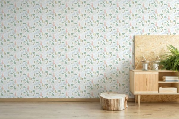 colorful forest peel and stick removable wallpaper