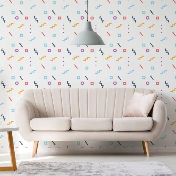 geometric line peel stick wallpaper