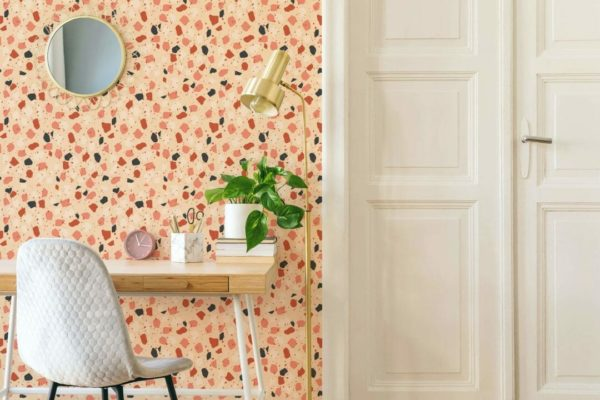 terrazzo stick and peel wallpaper