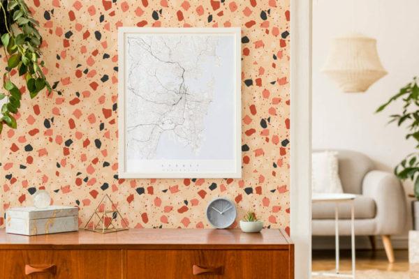 peel and stick terrazzo wallpaper