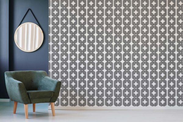 black custom color chain self-adhesive wallpaper