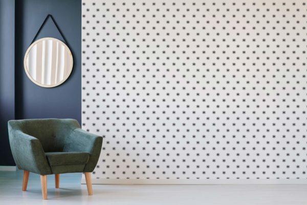 black eye self-adhesive wallpaper