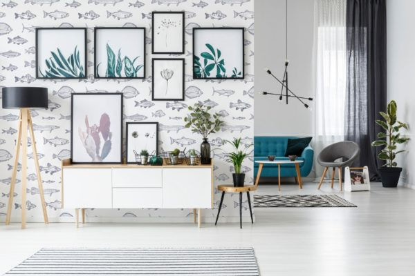 fish accent wall example