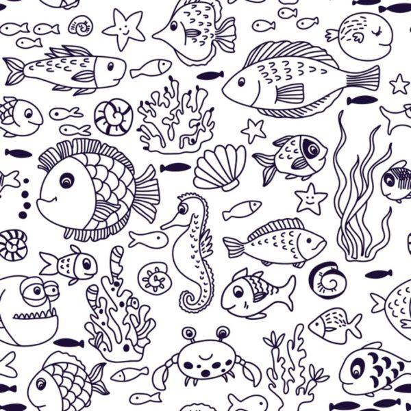 fish stick and peel wallpaper
