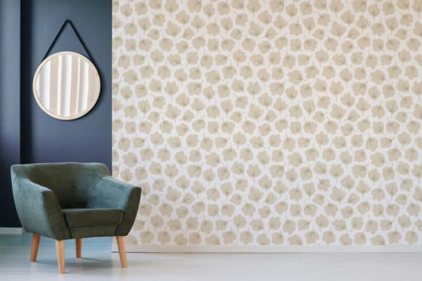beige floral peel and stick removable wallpaper