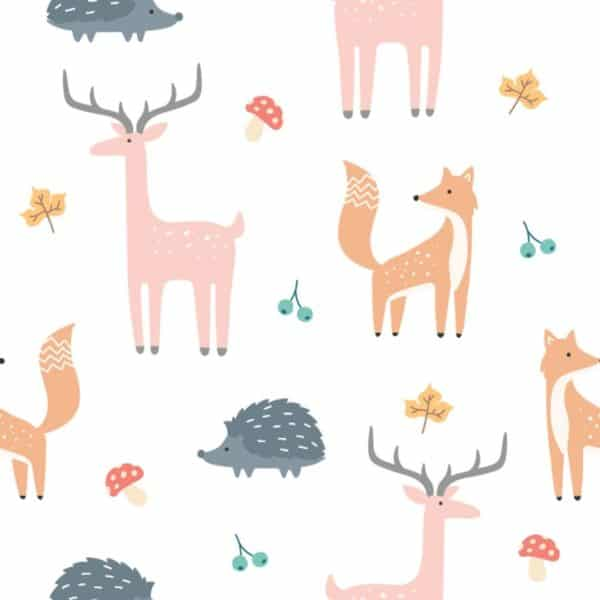 forest animal stick and peel wallpaper