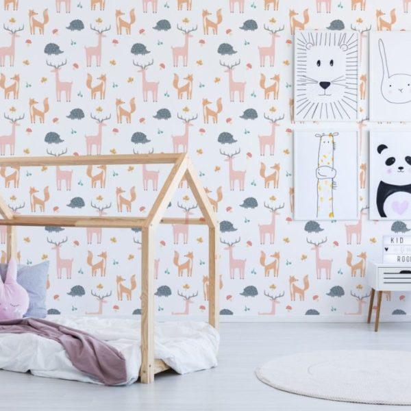 forest animal peel stick wallpaper