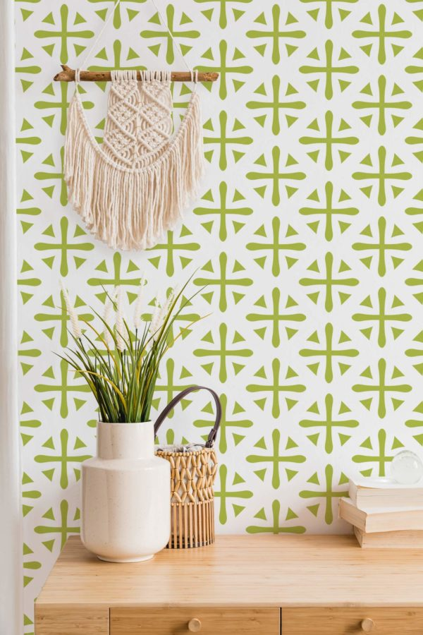 green geometric wallpaper peel and stick