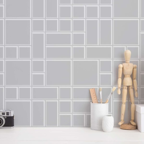 geometric tiles stick and peel wallpaper