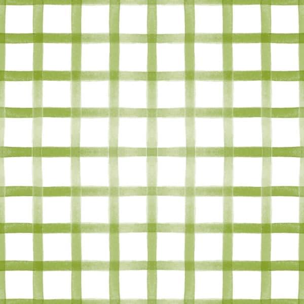 green gingham self-adhesive wallpaper