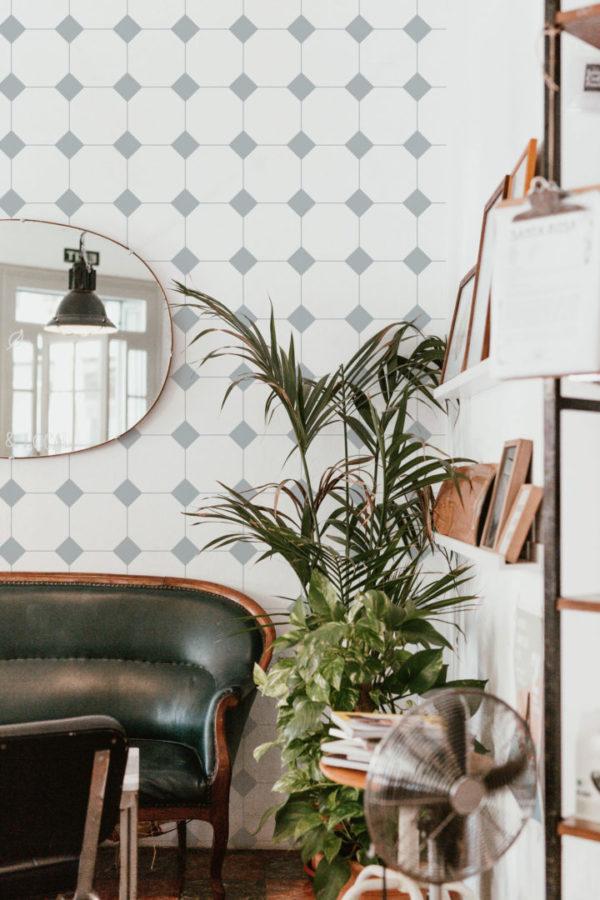 minimalistic tile peel & stick