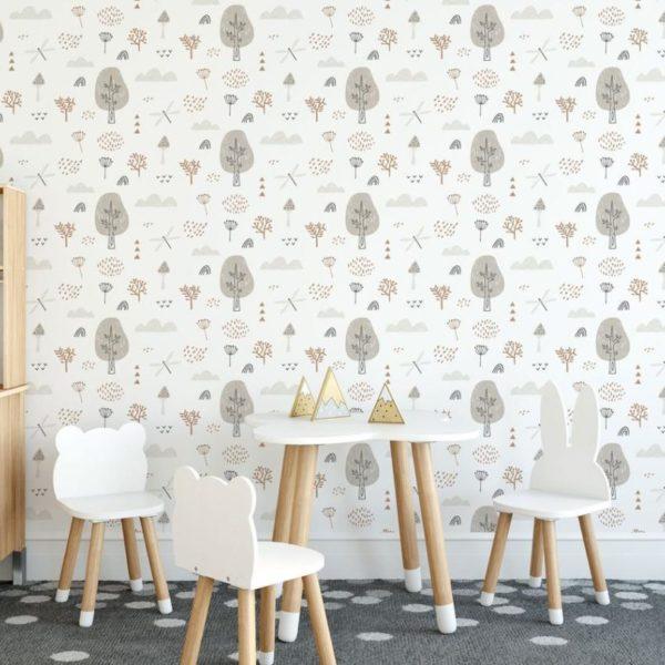 boho forest peel stick wallpaper