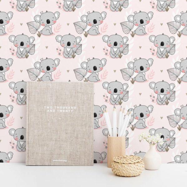 koala peel stick wallpaper