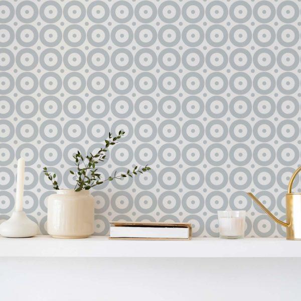 gray polka dot removable wallpaper