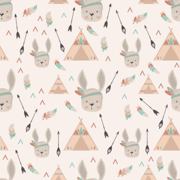 rabbit stick and peel wallpaper