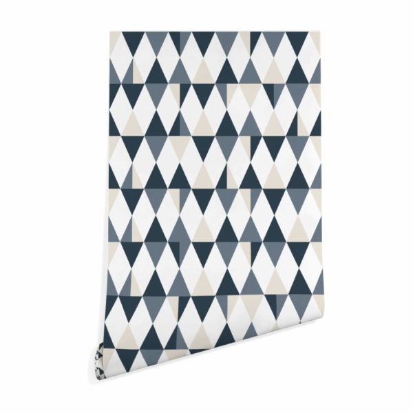 triangle peel stick wallpaper