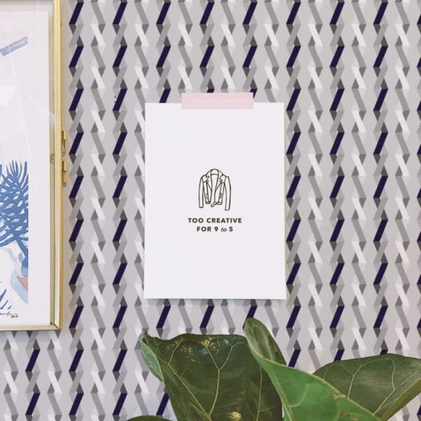 zig-zag stick and peel wallpaper