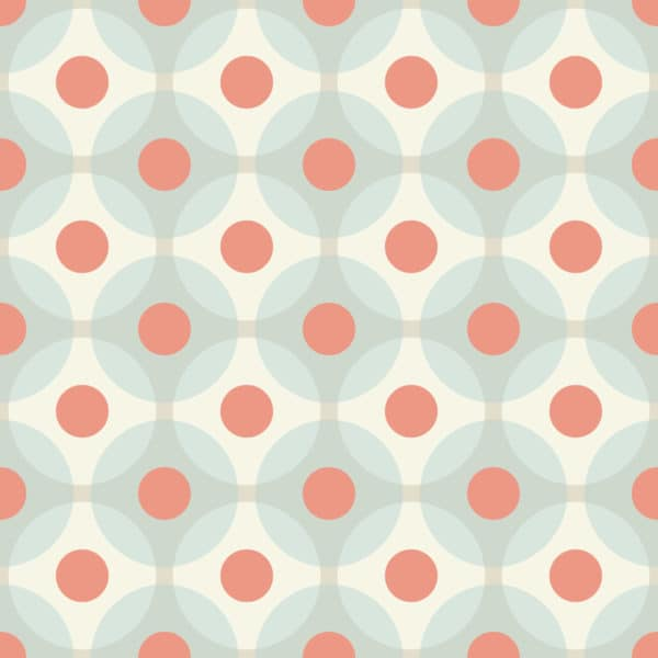 colorful retro geometric stick and peel wallpaper