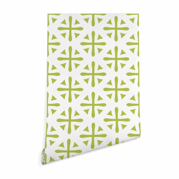 green geometric peel and stick removable wallpaper