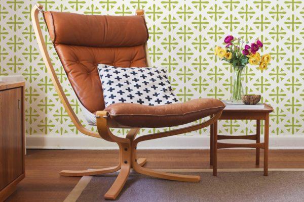 geometric stick and peel wallpaper