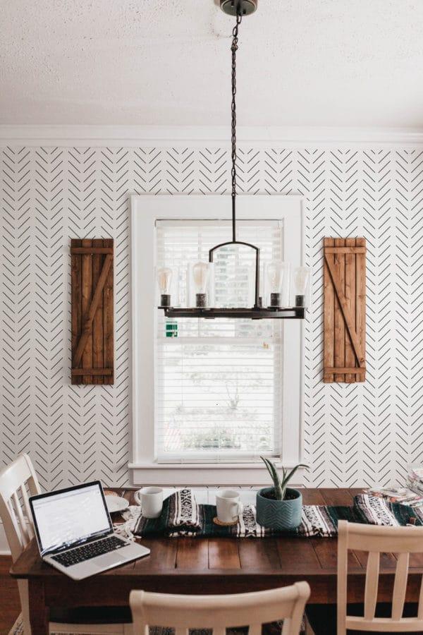 black and white herringbone self-adhesive wallpaper
