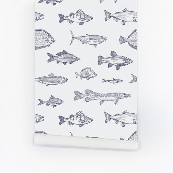 Kids wallpaper with fish