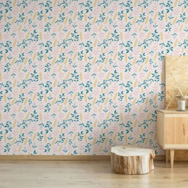 leaf peel stick wallpaper