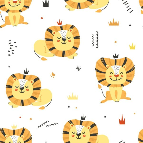 lion stick and peel wallpaper