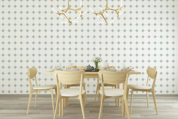 gray and white minimalistic tile peel and stick removable wallpaper