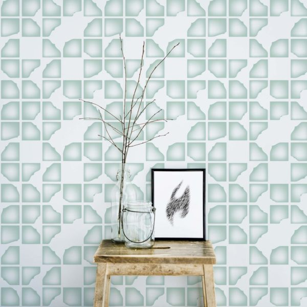 modern abstract stick and peel wallpaper