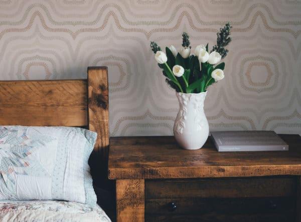 beige modern boho abstract self-adhesive wallpaper