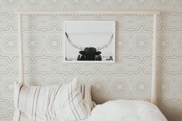 beige modern boho abstract peel and stick removable wallpaper