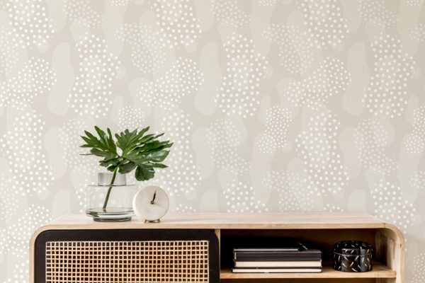 modern boho abstract stick and peel wallpaper