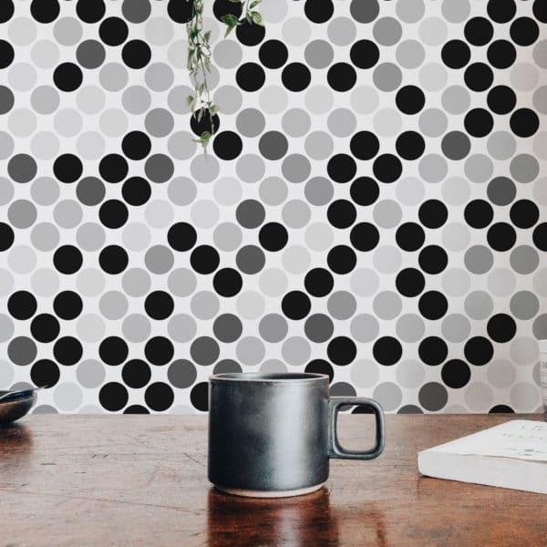 monochrome polka dots peel & stick