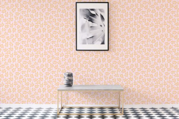floral and stripes stick and peel wallpaper