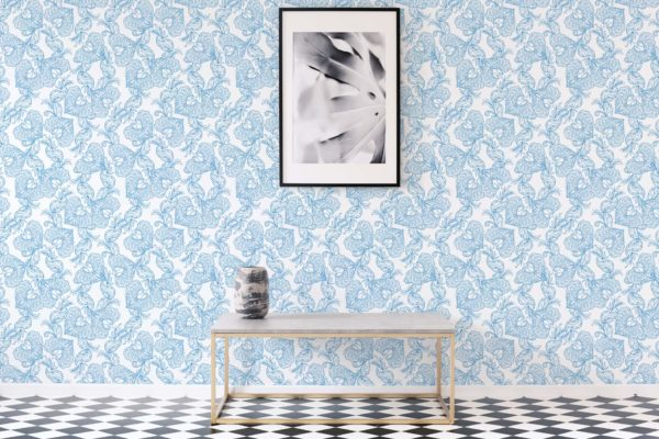 oriental floral stick and peel wallpaper
