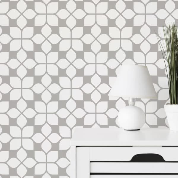 beige oriental tile peel and stick removable wallpaper