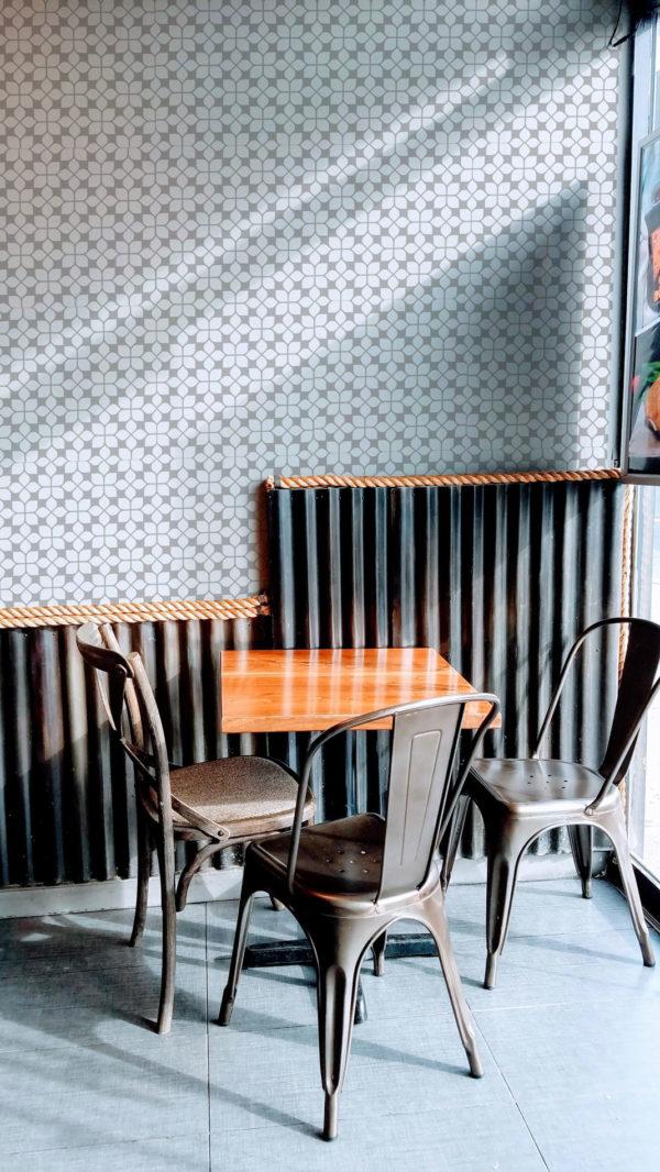 beige oriental tile self-adhesive wallpaper
