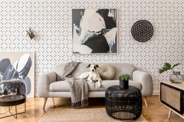 beige oriental tile removable wallpaper