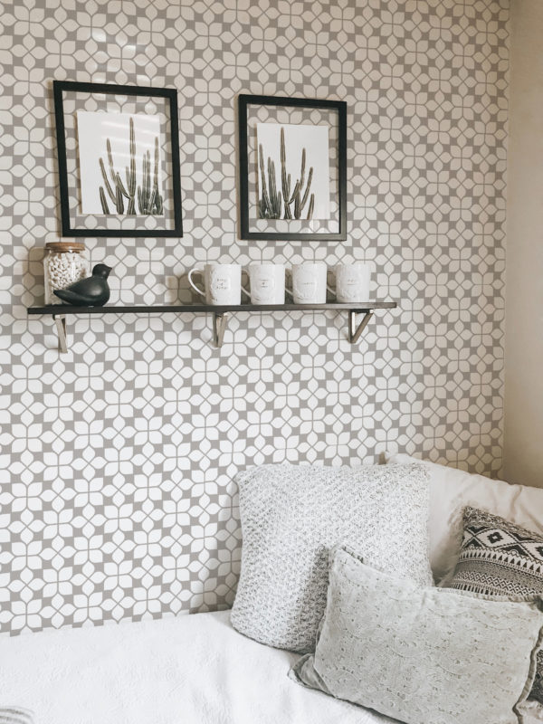 beige oriental tile wallpaper roll