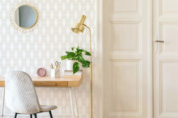 vanilla ornamental diamond removable wallpaper