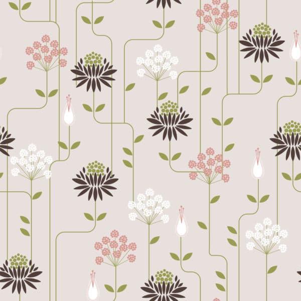art deco floral peel stick wallpaper
