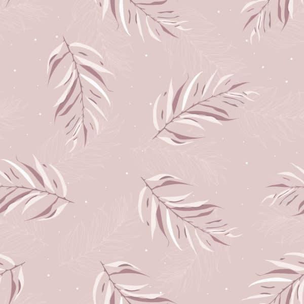 pink boho leaf self-adhesive wallpaper