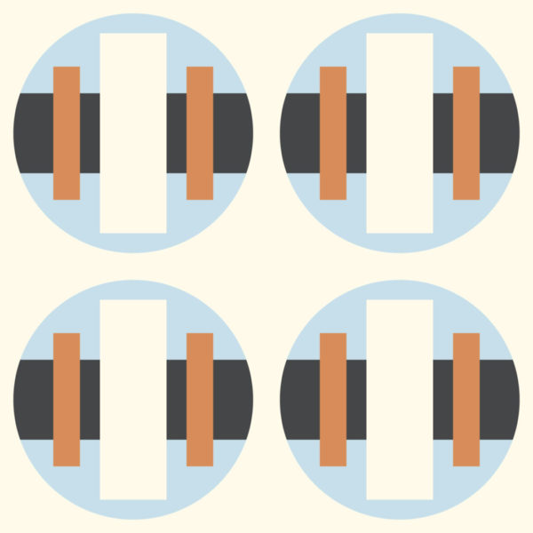 blue and beige bold circle wallpaper peel and stick