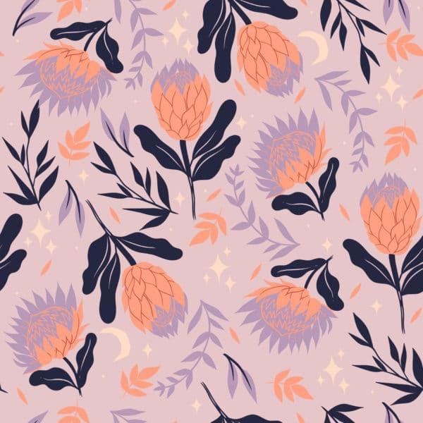bold floral peel stick wallpaper