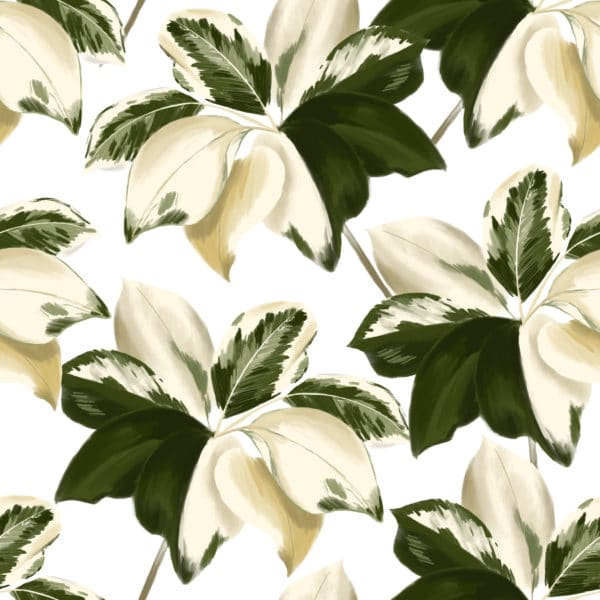 green bold leaf wallpaper peel and stick