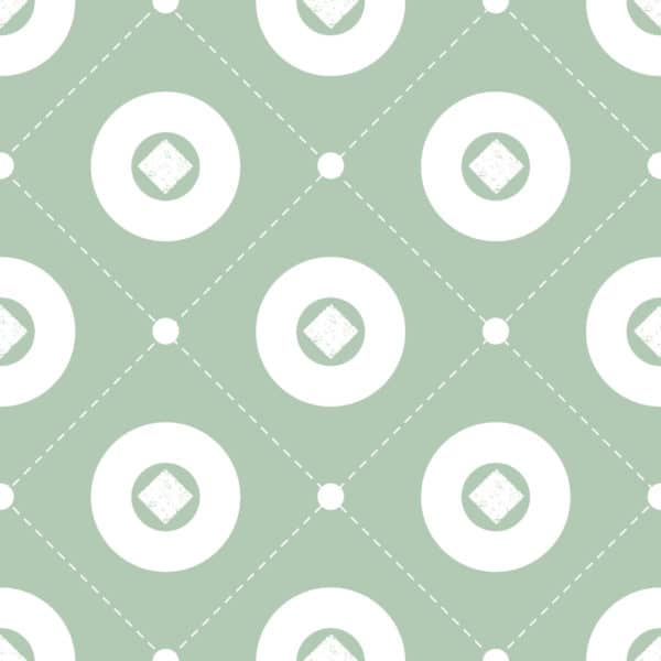 white and green circle peel and stick removable wallpaper
